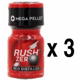 Rush Poppers RUSH ZERO Red Distilled 10mL x3