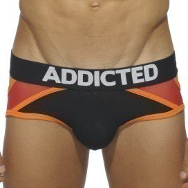 Contrast Jock Brief Noir / Rouge