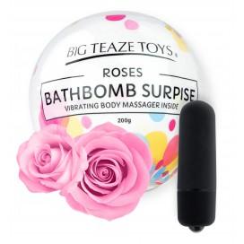 Big Teaze Toys Bombe de bain moussante avec Vibro Parfum Rose