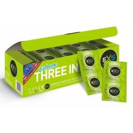 EXS Pack de 144 préservatifs texturés Ribbed & Dotted