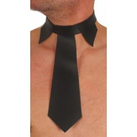 The Red Col de chemise avec Cravate en cuir