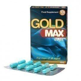Gold Max: stimulant sexuel homme Gold max Blue 10 gélules