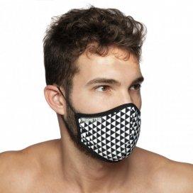 Addicted Masque alternatif TRIANGLES Noir et Blanc