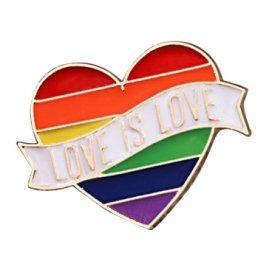 Pin's LOVE IS LOVE Rainbow