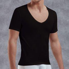 Doreanse T-shirt en V - Noir