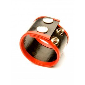 Ballstretcher Rubber 2 Pressions Rouge