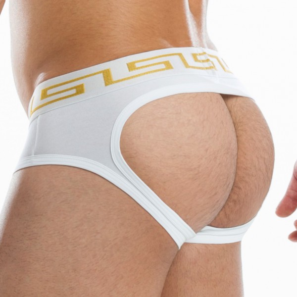 Jockstrap Bottomless Meander Blanc