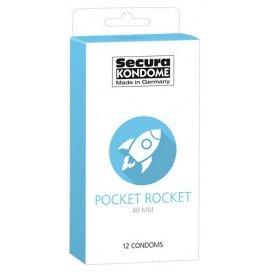 Secura Kondome Préservatifs 49mm Pocket Rocket x12