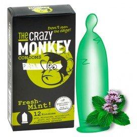Crazy Monkey Condoms Préservatifs Arôme x12 Menthe