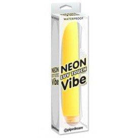 PipeDream Vibro Dildo Neon Vibe 15 x 2.5 cm Jaune