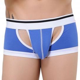 Boxer Open Side Bleu