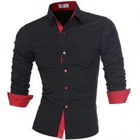 Chemise élégante bande rouge