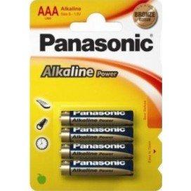 Piles AAA Panasonic Alcaline x4