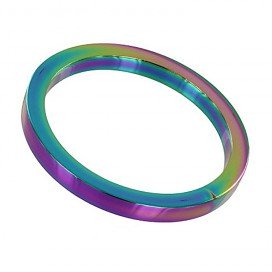 Triune Cockring Rainbow Métal 8mm