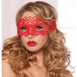Seven 'til Midnight Masque rouge en dentelle