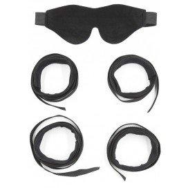 Kit de Bondage menottes et  masque en nylon