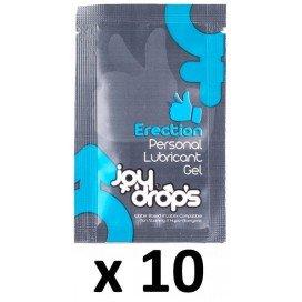Joy Drops Dosettes Lubrifiant Effet Erection Dure 5ml x10