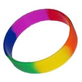 Pride Items Bracelet Arc-en-ciel Silicone