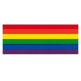 Pride Items Sticker Arc-en-ciel 12.5 x 5 cm