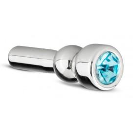 Sinner Gear Bijou d'urètre Diamant Bleu -3.5 x 1.2 cm