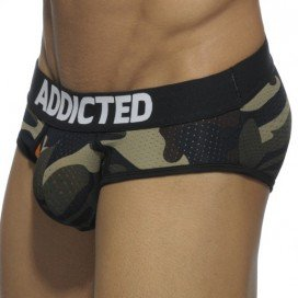 Addicted Contrasted Mesh Brief Army