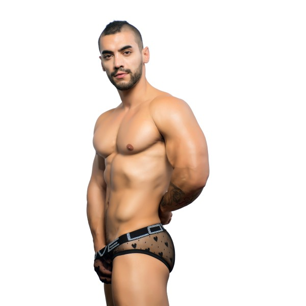 Andrew Christian Slip Mesh Love Sweetheart Love Sweetheart Mesh Brief