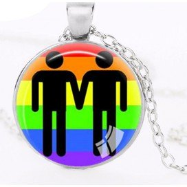 Médaillon Couple Hommes Rainbow