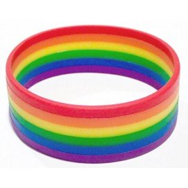 Bracelet Rayé Rainbow Silicone