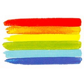 Tatouages temporaires Rainbow Painting x3