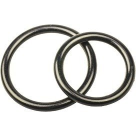 Lot de 2 cockrings Silicone Noir