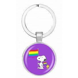 Porte-Clé Purple Dog