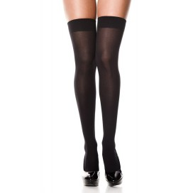 MusicLegs Bas noirs opaques