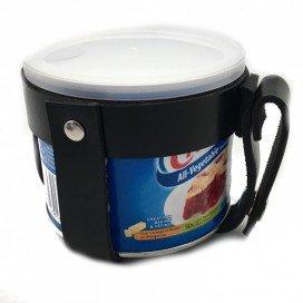 The Red Support pour pot de Crisco - Cuir