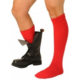 Chaussettes Boot Rouges