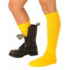 Chaussettes Boots Jaunes