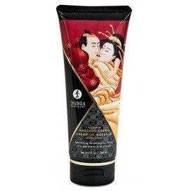 Shunga Crème de massage Comestible Vin Pétillant à la FRAISE - 200ml