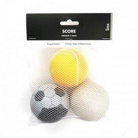 Pack de 3 masturbateurs Stroker Ball Score