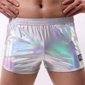 Short Disco brillant argenté