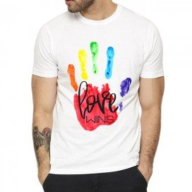 T-shirt MAIN RAINBOW Blanc