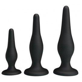 Lot de 3 plugs Silicone Débutant