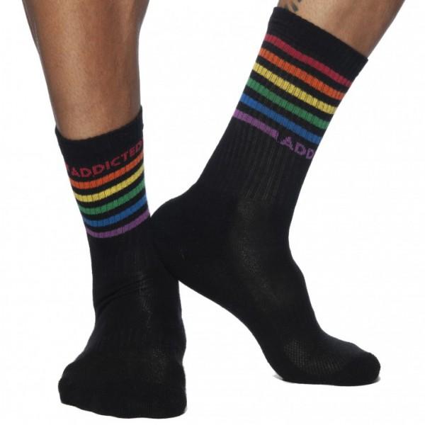 Chaussettes Rainbow Noires