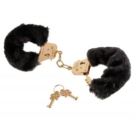 Fetish Fantasy Series Menottes Gold Furry Noires