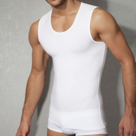 Doreanse Tank-top pour hommes - Blanc