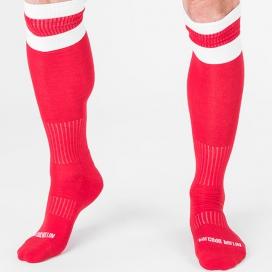 Chaussettes FOOTBALL SOCKS Rouge-Blanc