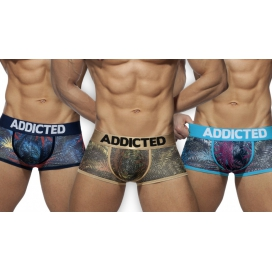 Addicted Pack 3 boxers TROPICAL MESH Pus Up