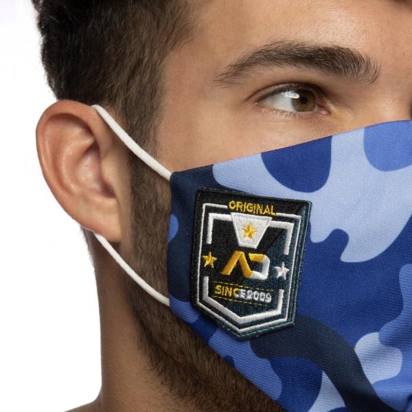 Masque en tissu CAMO SHIELD Bleu