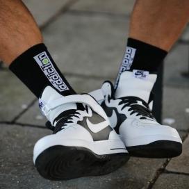 "Addiction addiction Socks ""Classic Black"""