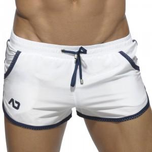 Menderwear Mini Short Blanc De Rocky Bain N08pkwo R354AjL