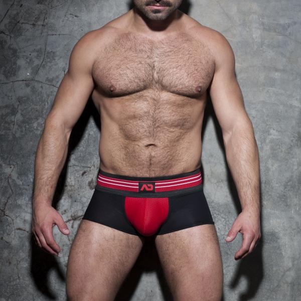 Boxer DOUBLE STRIPE Noir-Rouge