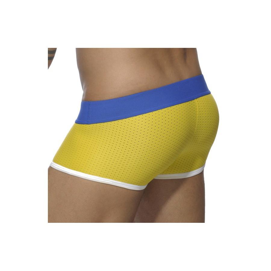 boxer mesh push up jaune menderwear. Black Bedroom Furniture Sets. Home Design Ideas